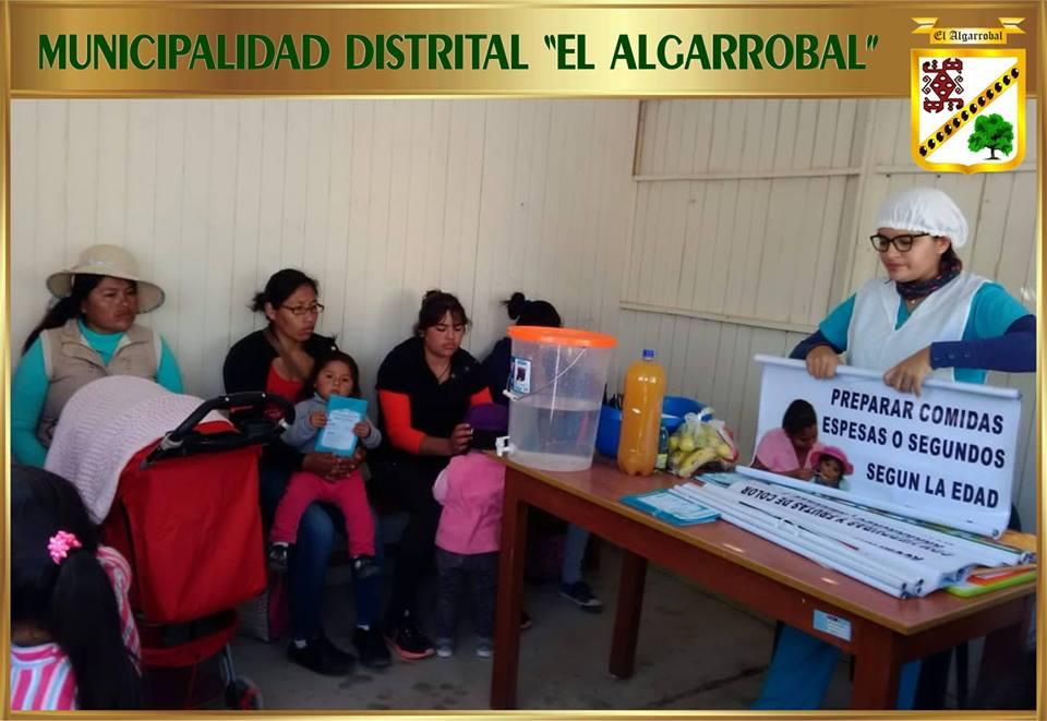 """Sesión Demostrativa de """"Platos Nutritivos para niños menores de 3 años"""""""