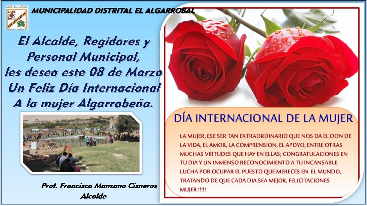 08 DE MARZO DÍA INTERNACIONAL DE LA MUJER