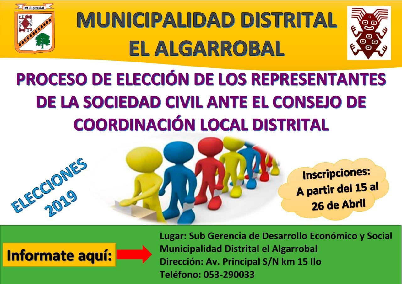INICIO DEL PROCESO DE  ELECCIÓN DE REPRESENTANTES DE LA SOCIEDAD CIVIL PARA EL CCLD