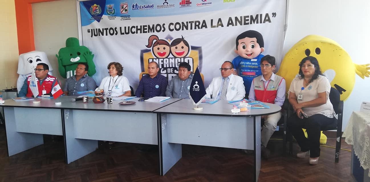"""ALCALDE PROF. FRANCISCO MANZANO PARTICIPA EN CONFERENCIA """"JUNTOS LUCHEMOS CONTRA LA ANEMIA""""."""